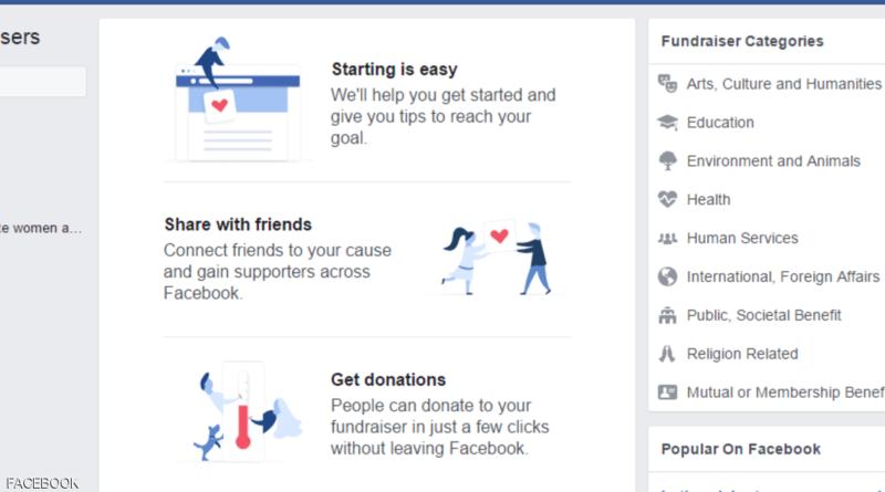 جديد فيسبوك منصة تتيح للمستخدمين فرصة لجمع المال