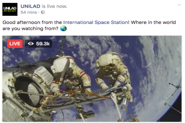 قصة البث الحي من الفضاء على الفيسبوك اللي خدع الجميع