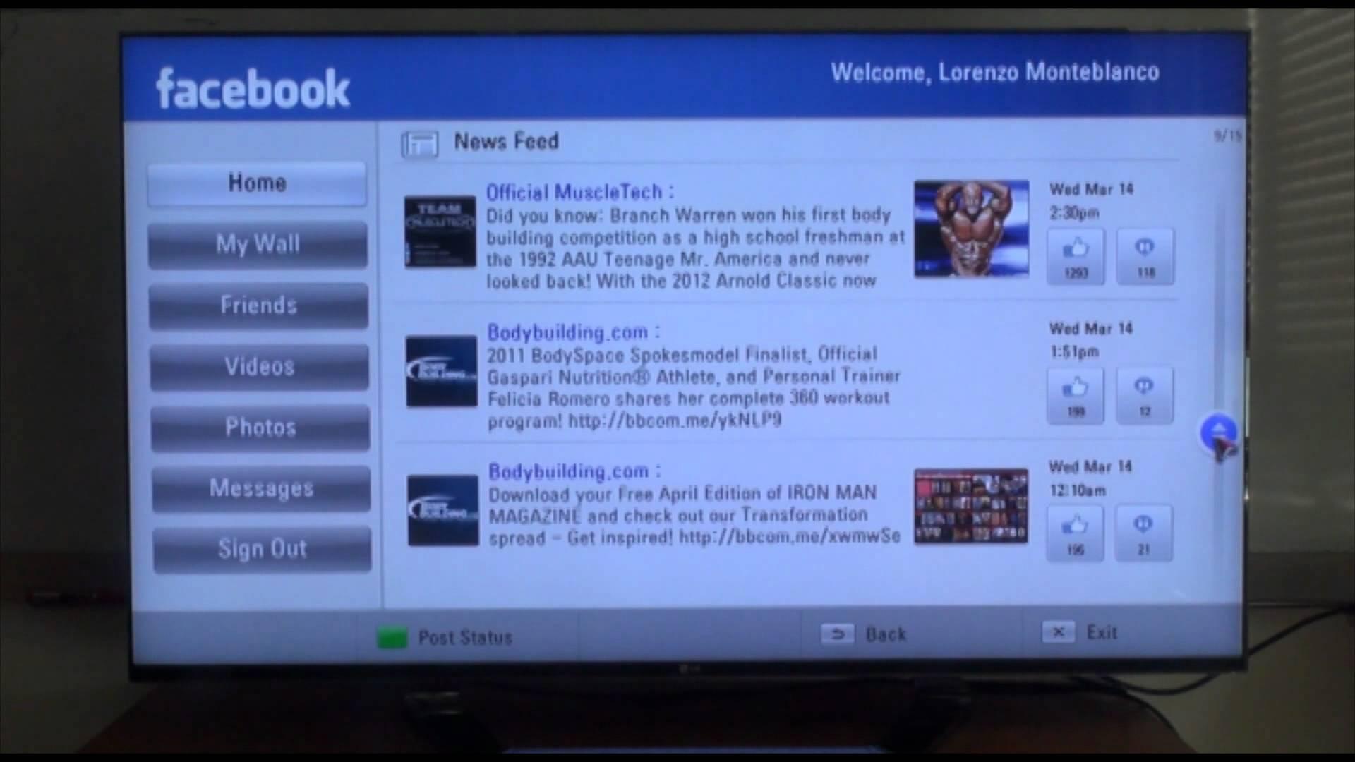 تطبيق من فيسبوك لمشاهدة الفيديو على التلفزيون